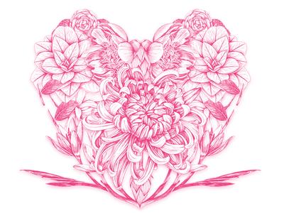 Valentine drawing valentine heart