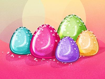 Gumdrops illustrator colorful candy