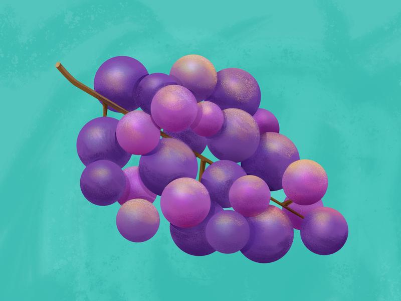 Grapes illustration food grapes purple colorful illustrator photoshop fruit