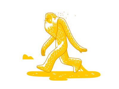 early riser mud sticky walking mankind man ancient caveman fantasy dribbble mascot illustration design cartoon character