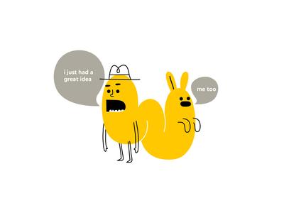 ideas com talk speech speaking hat rabbit colour monster fantasy animal dribbble mascot illustration design cartoon character