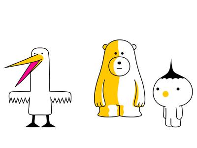 animal shape bear bird branding fantasy animal dribbble mascot illustration design cartoon character