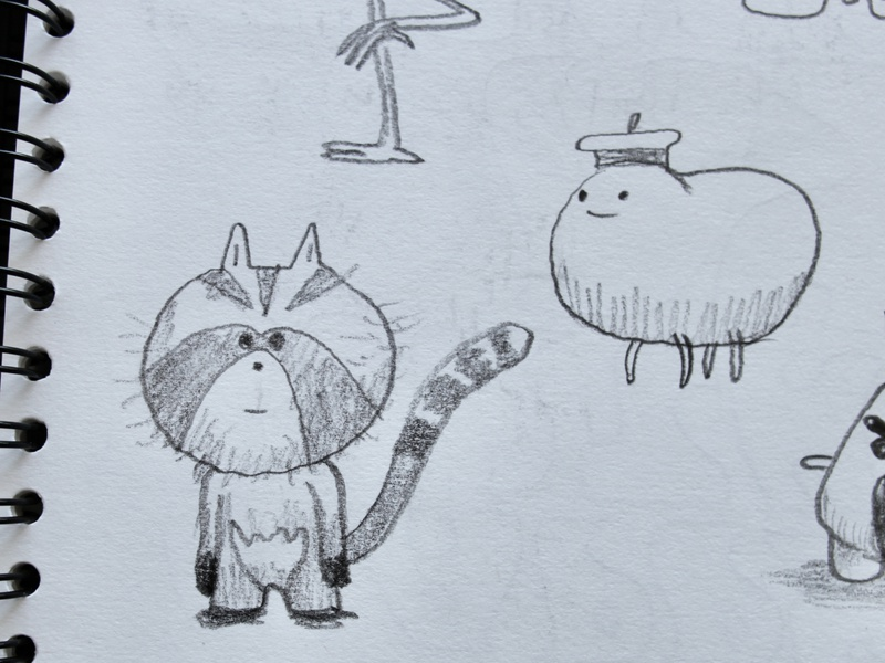 rodent branding fantasy animal dribbble mascot illustration design cartoon character