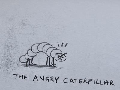 oh, naturelle caterpillar fantasy animal dribbble mascot illustration design cartoon character