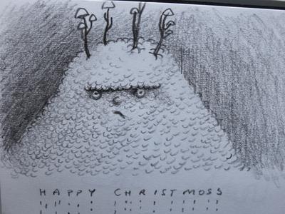 moss monster fungus mushroom fantasy dribbble mascot illustration design cartoon character