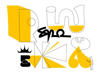 yellow collector abstract shape pattern yellow branding logo colour fantasy mascot illustration design cartoon character