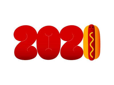 hny bread mustard sausage typography health foodie hotdog dribbble mascot illustration design cartoon character