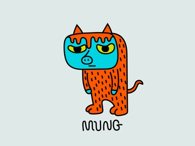 mung son of mung monster colour fantasy animal dribbble mascot illustration design cartoon character