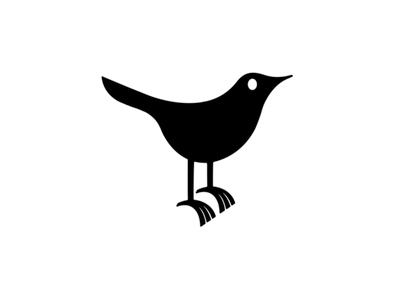 first ever twitter bird tweet ecological environmental nature internet online tech socialmedia twitter animal logo branding dribbble mascot illustration design character cartoon