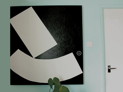 painting door canvas abstract shapes painting design
