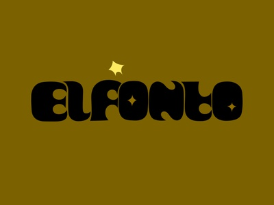 elfonto spanish typeface stars graphicdesign typogaphy branding logo fantasy dribbble illustration design cartoon