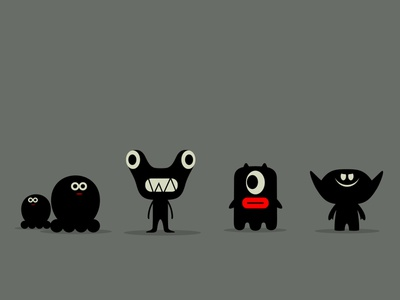 according to legends aliens friends fantasy monsters branding dribbble mascot illustration design cartoon character