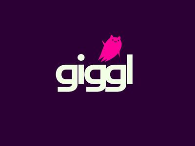made for Giggl.app app online sharing video tech ui branding logo dribbble mascot illustration design cartoon character