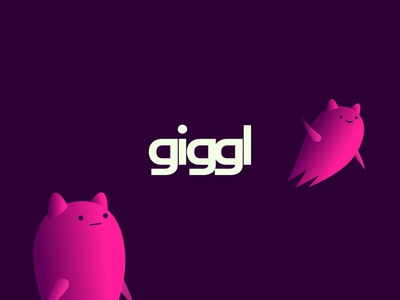giggl with friends sharing video online apps ui branding logo dribbble mascot illustration design cartoon character