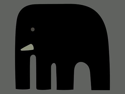 big animals elephant branding logo dribbble mascot illustration design cartoon character