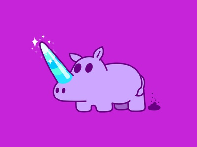 rhinocorn health wealth success luck myth animal fantasy magic unicorn rhinos logo branding dribbble mascot illustration design cartoon character