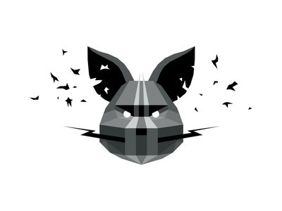 concealed attraction cyber futuristic fantasy graphic design metal robotic animal mouse pig logo branding dribbble mascot illustration design cartoon character