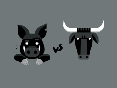 try both flavours nutrition food agriculture farming animals head bull beef pig pork branding logo dribbble mascot illustration design cartoon character