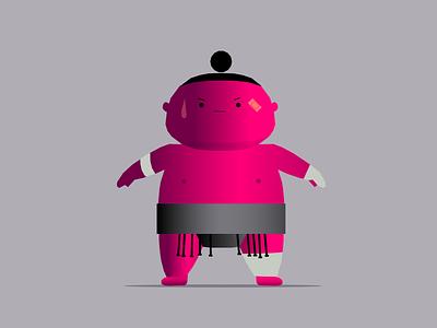 meanwhile at the dojo basho dojo determination martial arts wrestling sport asian japanese person man sumo branding dribbble mascot illustration design cartoon character