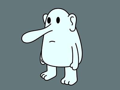 big nose person face nose branding dribbble mascot illustration design cartoon character
