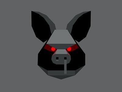 Deep Pork logo auction demonic fantasy pork food pig branding dribbble mascot illustration design cartoon character