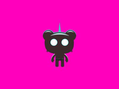 Beats go on space animals robot tech mouse branding simonox mascot illustration design cartoon character
