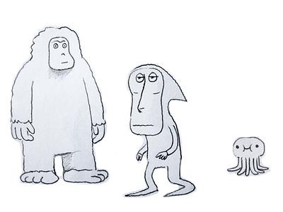 Eenie, Meeni & Moe dream fantasy animals octopus face dribbble mascot illustration design cartoon character