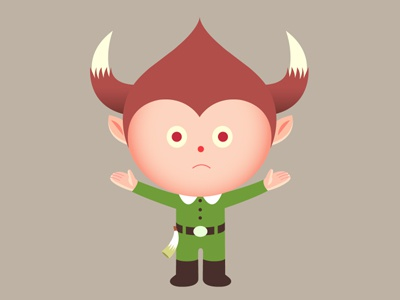 Call Of The Wild Child simonox simon oxley idokungfoo horned green child character wild cartoon