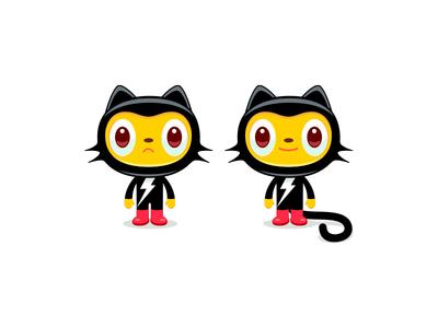 Feelin Feline design illustration cat cartoon animal mascot costume creature simon oxley