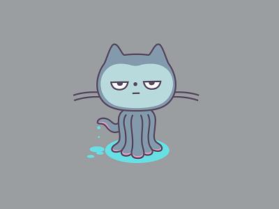 Gitocat dribbble octocat icon mascot logo character github graphic design illustration
