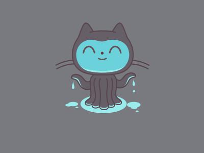 Cephalopodiapuss dribbble octocat icon mascot logo character github graphic design illustration