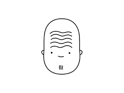 let's rake the gravel in the zen garden, together drawing smile happy beard people character dribbble illustration