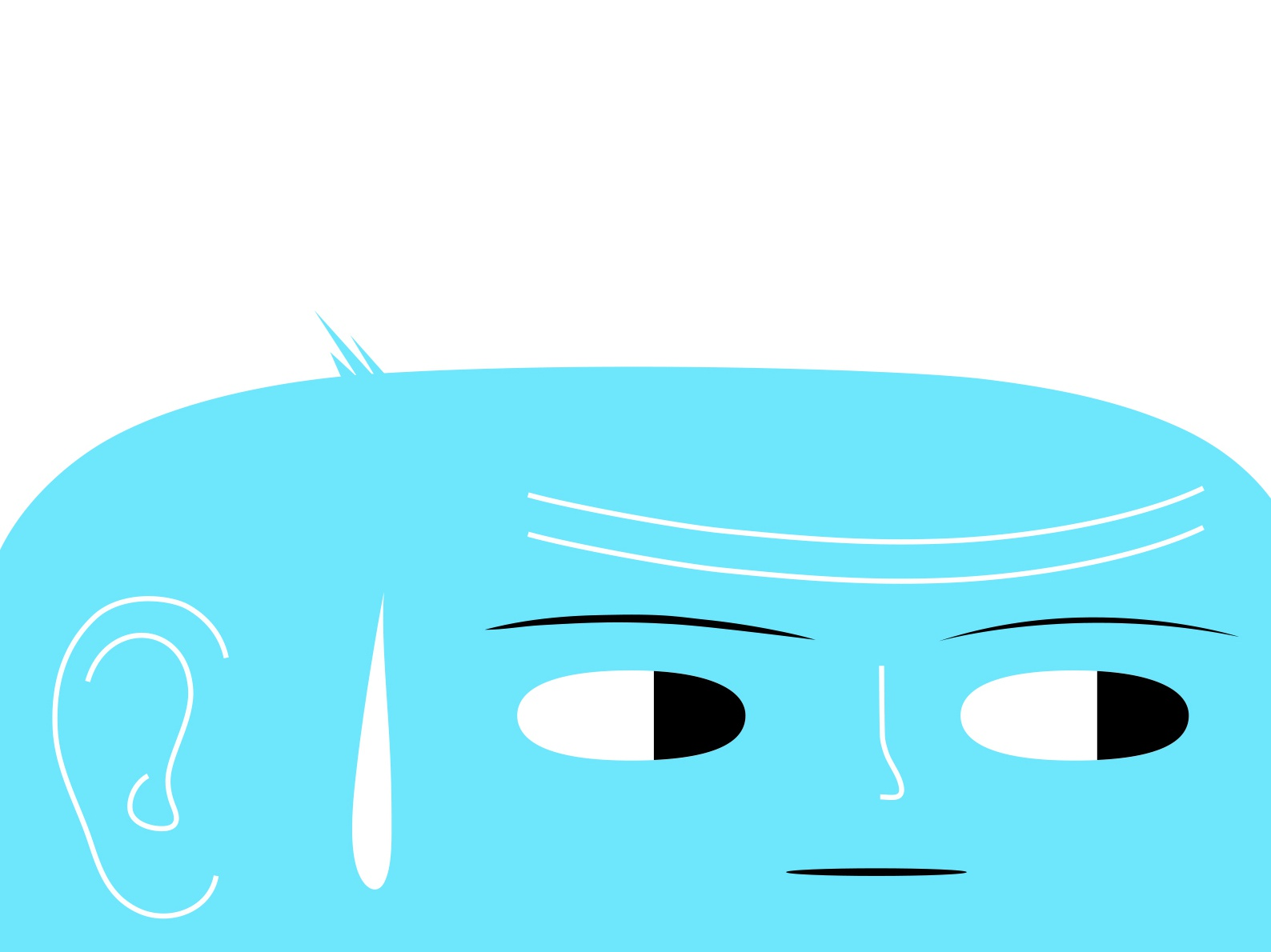 just looking blue staring branding vector dribbble illustration design cartoon character