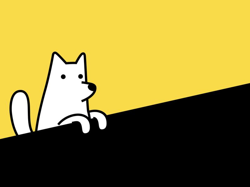 Dogs day off pet dog branding colour vector animal dribbble illustration mascot design cartoon character