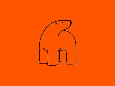Sun Sets sunset arctic orange polar bear branding logo vector animal dribbble illustration design cartoon