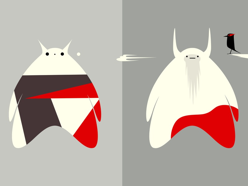 It's Great Outdoors pattern branding logo monster colour fantasy vector animal dribbble illustration mascot design cartoon character