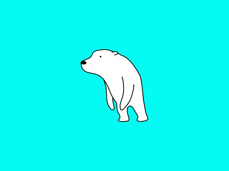 Cave Dweller fur wildlife bear polar bear colour animal dribbble illustration mascot design cartoon character