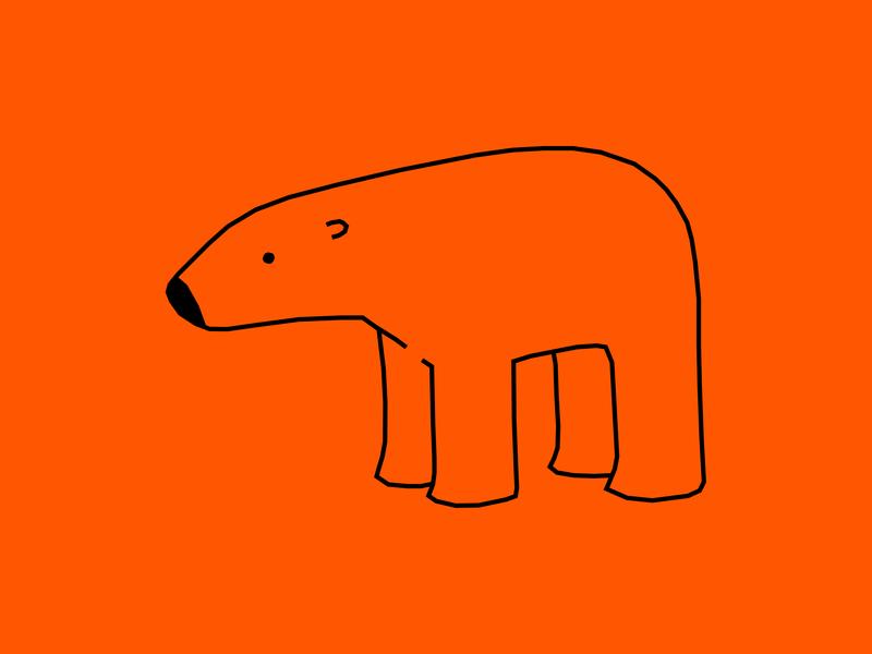 ( • - • ) global warming orange bear endangered species arctic polar bear vector animal dribbble illustration design cartoon