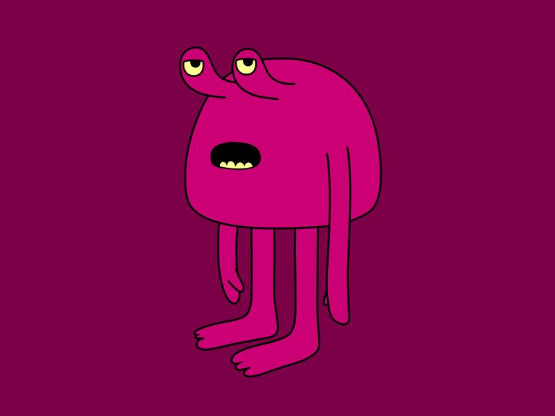 Oh, What Now? branding monster fantasy vector dribbble illustration mascot design cartoon character