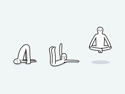 special powers human body pose trick magic levitation person human dribbble illustration mascot design cartoon character