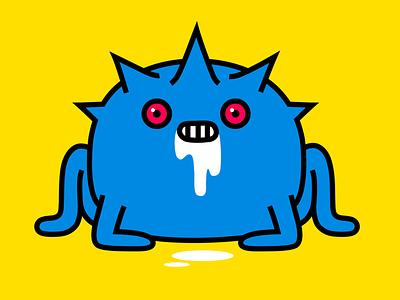 modest rabid scum diseased bug virus monster colour fantasy animal dribbble illustration mascot design cartoon character
