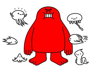 a very nice day jelly fish slug fish aquatic sealife monster colour fantasy animal dribbble illustration mascot design cartoon character