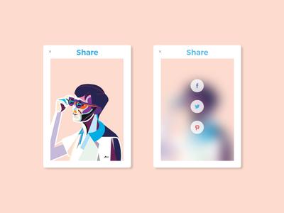 Daily UI 010 - Social Share art share social 010 design ui dailyui