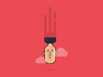 Day 18 - Dangerous fun world war missile evil clouds kim jong un kim nuke bomb challenge daily