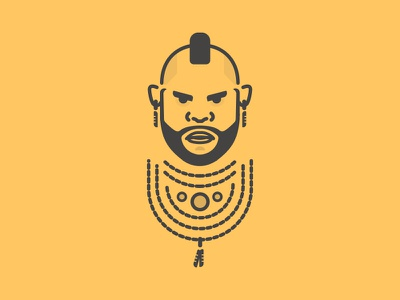 Day 98 - Gold legend vector 80s illustration character a-team mr t chains gold challenge daily