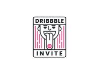 Dribbble Invite 2x