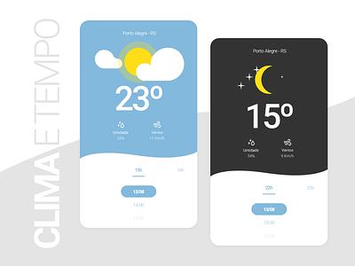 Clima e tempo ui design ui aplicativo