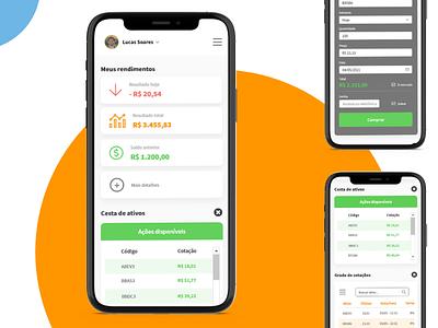 Analytics finance money app investment analytics trader ux ui ux ui design aplicativo ui