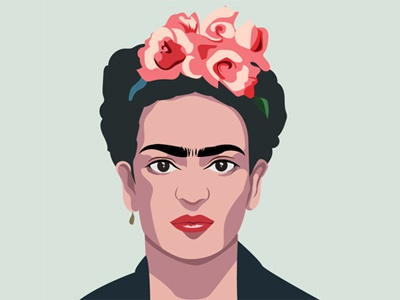 Frida Kalo typography branding vector design illustration
