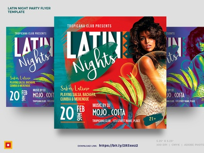 Latin Night Party flyer